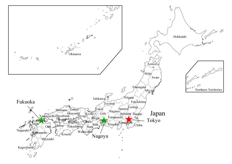 Kriyetic Japan - Japan map major cities
